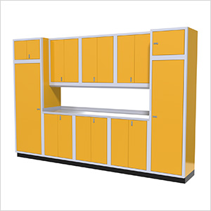 11-Piece Aluminum Garage Storage Set (Yellow)