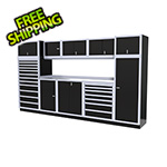 Moduline 11-Piece Aluminum Garage Cabinet Set (Black)