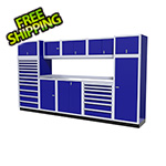 Moduline 11-Piece Aluminum Garage Cabinet Set (Blue)