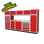 Moduline 11-Piece Aluminum Garage Cabinet Set (Red)