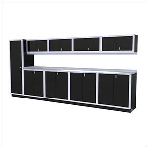 10-Piece Aluminum Cabinet Set (Black)