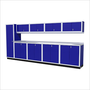 10-Piece Aluminum Cabinet Set (Blue)