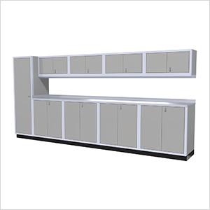 10-Piece Aluminum Cabinet Set (Light Grey)