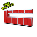 Moduline 10-Piece Aluminum Cabinet Set (Red)