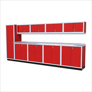 10-Piece Aluminum Cabinet Set (Red)