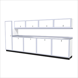 10-Piece Aluminum Cabinet Set (White)