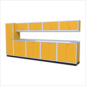 10-Piece Aluminum Cabinet Set (Yellow)