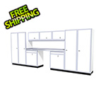 Moduline 11-Piece Aluminum Garage Cabinet Set (White)