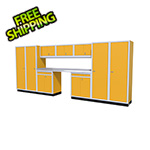 Moduline 11-Piece Aluminum Garage Cabinet Set (Yellow)