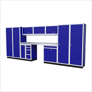 12-Piece Aluminum Garage Cabinet Set (Blue)