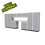 Moduline 12-Piece Aluminum Garage Cabinet Set (Light Grey)