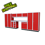 Moduline 12-Piece Aluminum Garage Cabinet Set (Red)