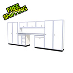 Moduline 12-Piece Aluminum Garage Cabinet Set (White)