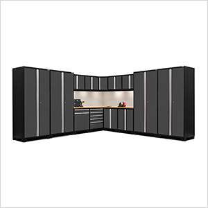 PRO Series 3.0 Grey 16-Piece Corner Set with Bamboo Tops