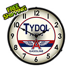 Collectable Sign and Clock Tydol Flying A Gasoline Backlit Wall Clock