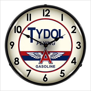 Tydol Flying A Gasoline Backlit Wall Clock