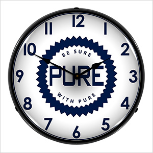 Pure Oil Backlit Wall Clock
