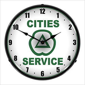 Cities Services Backlit Wall Clock