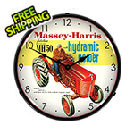Collectable Sign and Clock Massey Harris Backlit Wall Clock