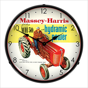 Massey Harris Backlit Wall Clock