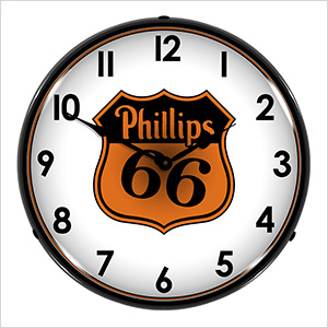 Phillips 66 Gas Backlit Wall Clock