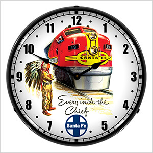 Santa Fe Chief Backlit Wall Clock