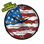 Collectable Sign and Clock 2nd Amendment Backlit Wall Clock