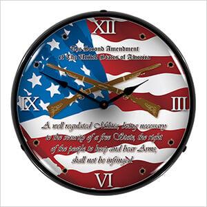 2nd Amendment Backlit Wall Clock