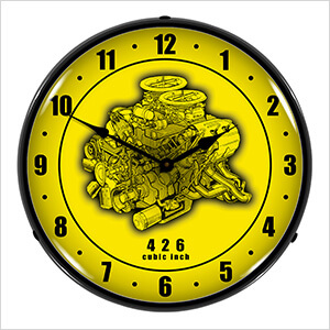 426 Engine Cutaway Backlit Wall Clock