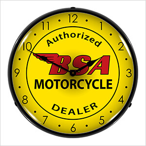 BSA Motorcycle Backlit Wall Clock