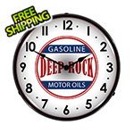 Collectable Sign and Clock Deep Rock Motor Oils Backlit Wall Clock