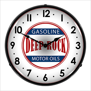 Deep Rock Motor Oils Backlit Wall Clock