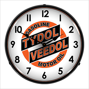 Tydol Veedol Motor Oil Backlit Wall Clock