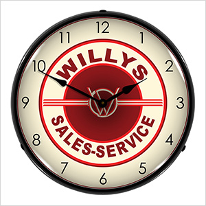 Willys Sales-Service Backlit Wall Clock