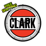 Collectable Sign and Clock Clark Oil Backlit Wall Clock