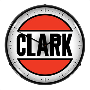 Clark Oil Backlit Wall Clock