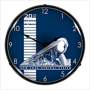 20th Century Limited Backlit Wall Clock