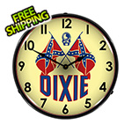 Collectable Sign and Clock Dixie Oil Company Backlit Wall Clock