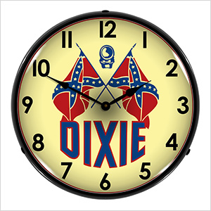 Dixie Oil Company Backlit Wall Clock