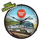 Collectable Sign and Clock Missouri Pacific Lines Backlit Wall Clock