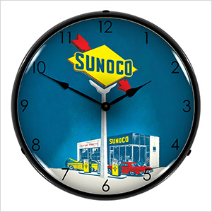 Sunoco Gas Backlit Wall Clock
