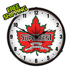 Collectable Sign and Clock Supertest Petroleum Backlit Wall Clock