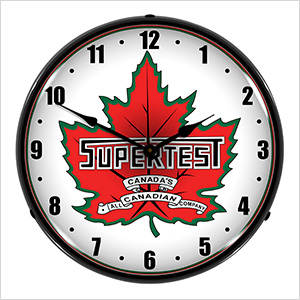Supertest Petroleum Backlit Wall Clock