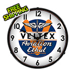 Collectable Sign and Clock Veltex Aviation Ethul Backlit Wall Clock