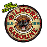 Collectable Sign and Clock Gilmore Gasoline Backlit Wall Clock