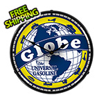 Collectable Sign and Clock Globe Gasoline Backlit Wall Clock