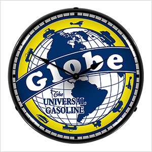 Globe Gasoline Backlit Wall Clock