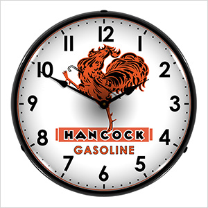 Hancock Gasoline Backlit Wall Clock