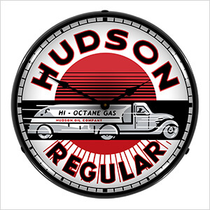 Hudson Gas Backlit Wall Clock