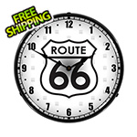 Collectable Sign and Clock Route 66 Backlit Wall Clock